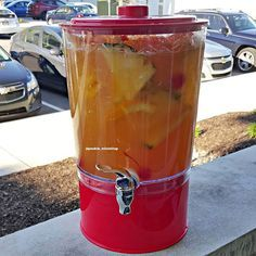#mulpix Talk Dirty To Me Punch  Welch's Mango Passion Fruit Juice, Pineapple Juice, Sour Mix, Triple Sec, Peach Schnapps, Bacardi Rum, Ciroc Pineapple Vodka & Hennessy with Pineapple Chunks, Orange Slices and Maraschino Cherries  #pookiemixinitup  #tipsybartender  #cocktail  #cocktails  #cocktailporn  #drinkgasm  #drinkporn  #mixology  #vodka  #rum  #junglejuice  #peachschnapps  #triplesec  #welchs  #bacardi  #mango  #passionfruit  #oranges  #punch  #passionfruit  #rumpunch  #pineapple...