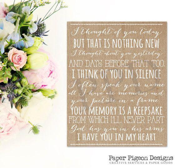 Burlap Wedding Sign DIY Memory Sign In by PaperPigeonDesigns