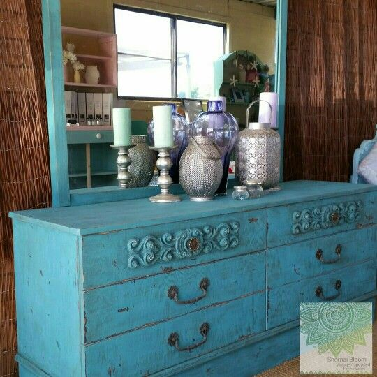 Retro Dressing Table Has Been Give A Facelift With Dixie Belleu0027s Mineral  Chalk Paints In A