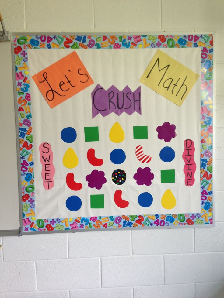 Candy crush bulletin board for back to school