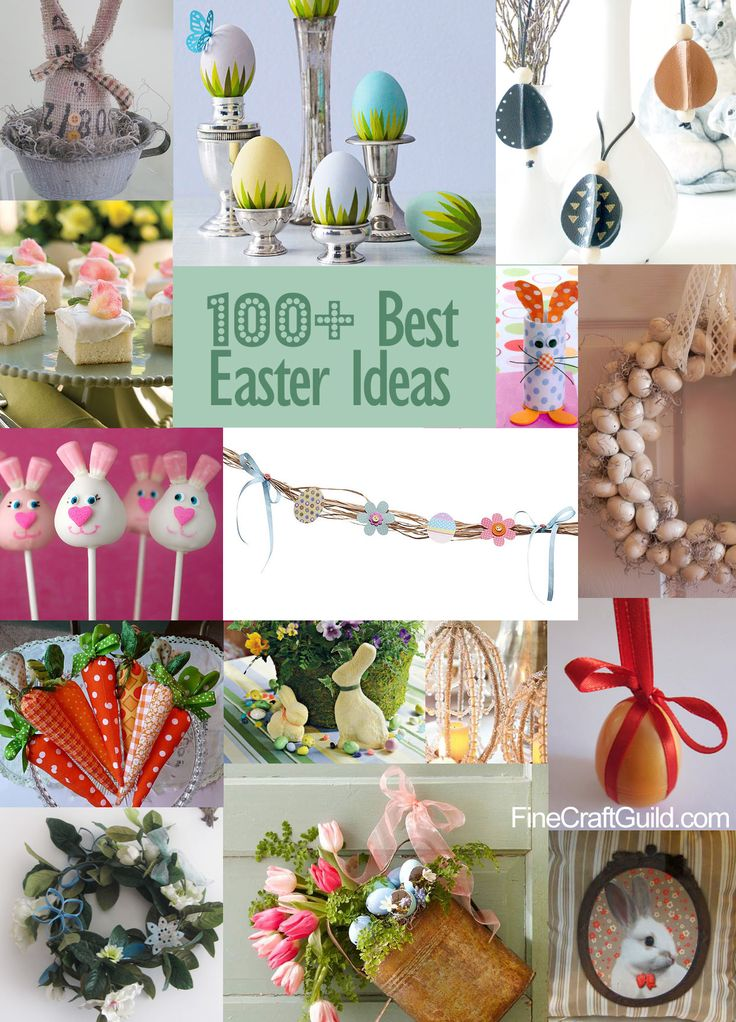 burlap easter decorations | 100+ BEST EASTER IDEAS (decorations, eggs, recipes..)