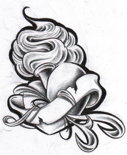 Heart with ribbon tattoo designs for Heart ribbon tattoo