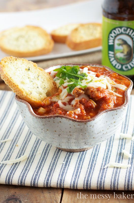 Slow Cooker Pizza Dip ~ #SundaySupper
