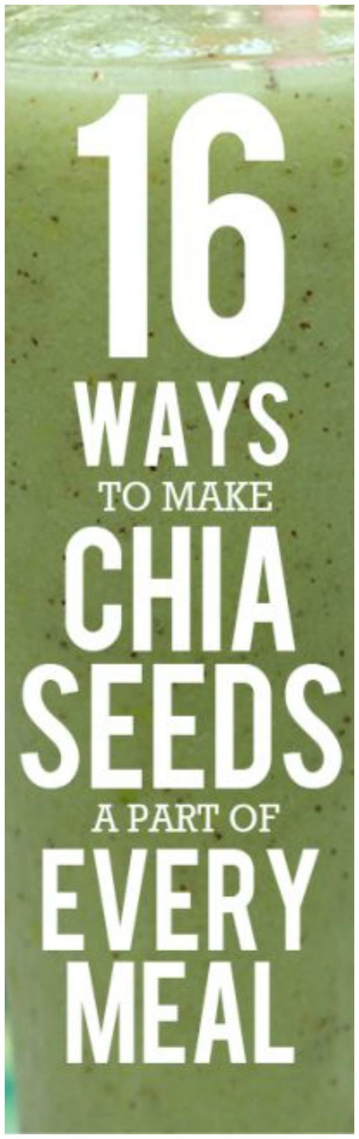 16 Chia Seed Recipes for Breakfast, Lunch, Dinner and Dessert. #superfood #mealplanning