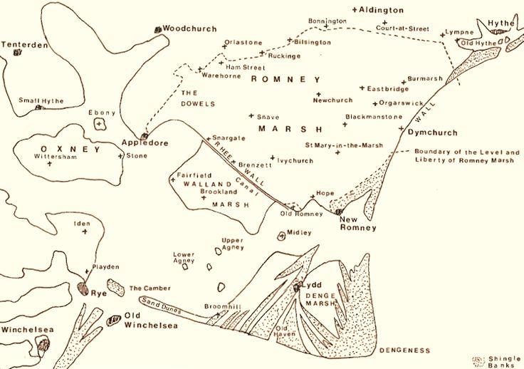 13th Century Map of Romney Marsh