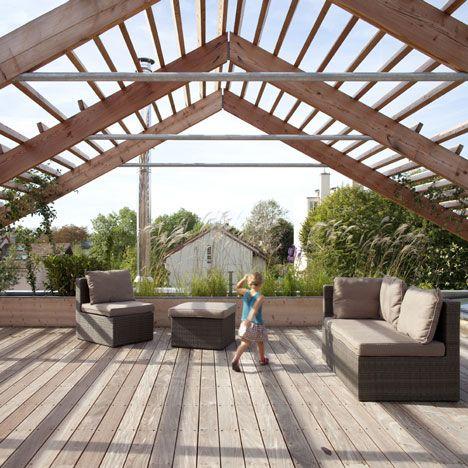 Nice roof deck: Ideas, Roof Decks, Djuric Tardio, Architects,  Glasshous, Roof Terraces, House, Eco Sustainability, Design