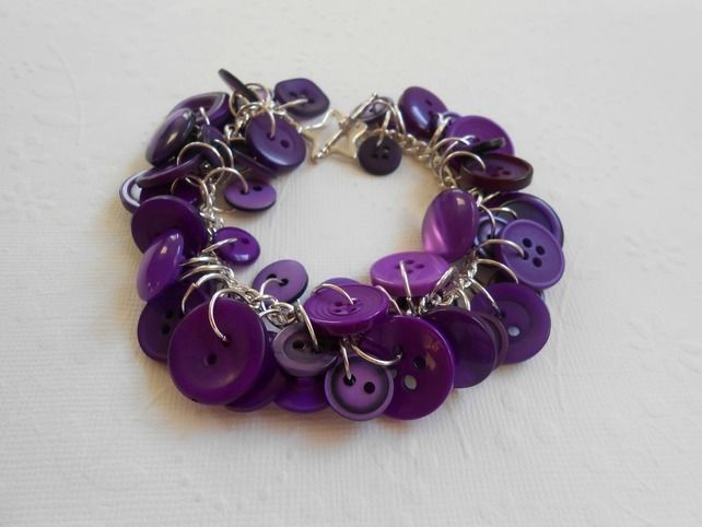 purple button bracelet £12.00