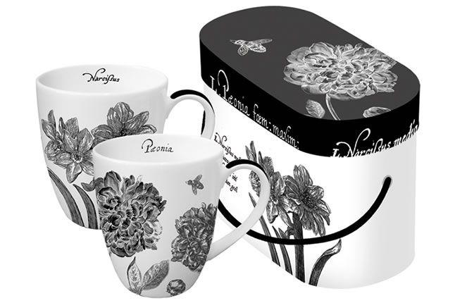 www.gifthaus.co.za B Floral Mug Set