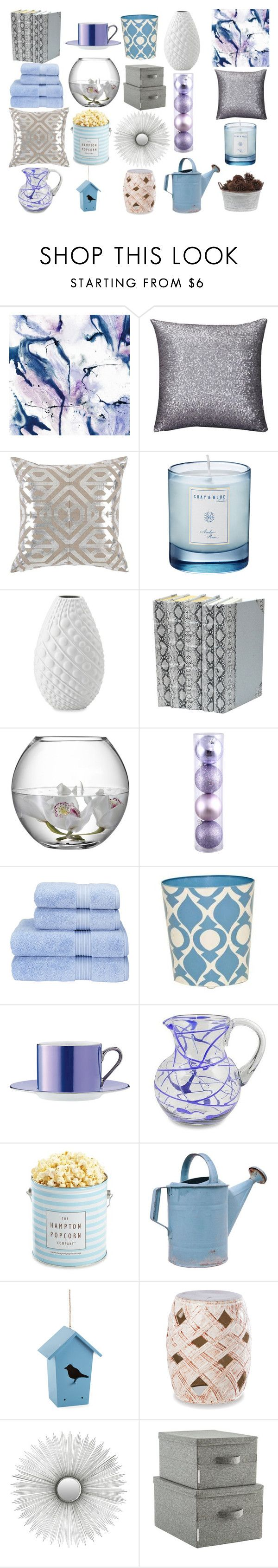 """""""Blue/Lilac Home Decor"""" by kat-van-d ❤ liked on Polyvore featuring interior, interiors, interior design, home, home decor, interior decorating, WALL, Shay & Blue, Bombay and LSA International"""