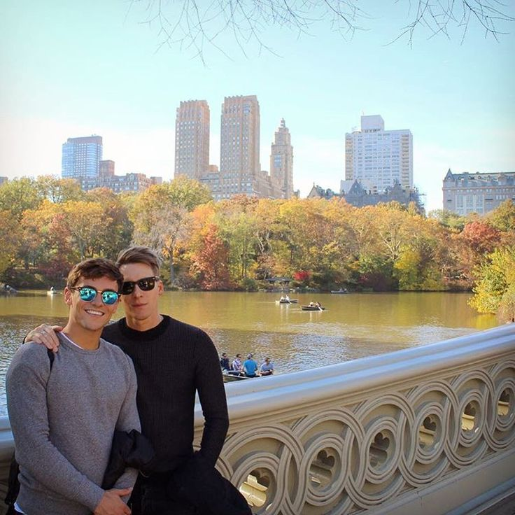 Dustin Lance Black & fiance Tom Daley visit NYC's Central Park