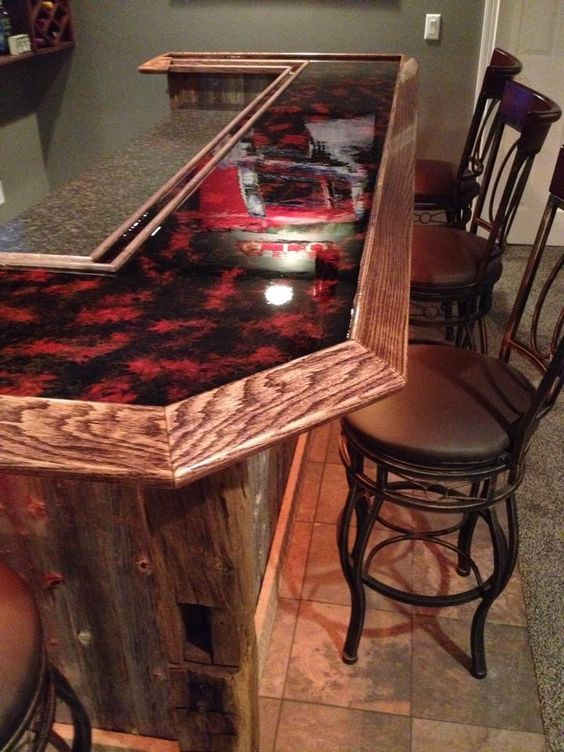 Red Countertop Epoxy Bartop Home Sweet Home In 2019