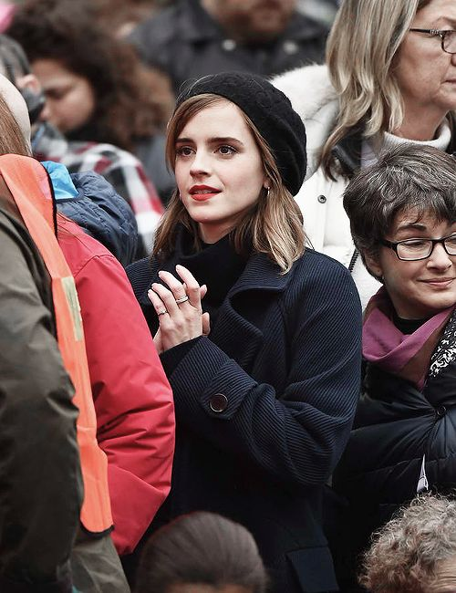 Emma Watson at the Women's March in Washington, DC (January 21, 2017)