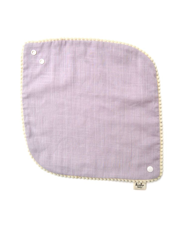 baby girl pom pom bib – lavender