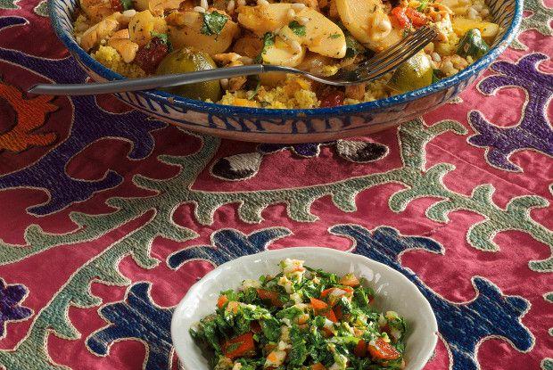Кускус с курицей, айвой, шафраном, курагой и сушеной вишней рецепт – марокканская кухня: основные блюда. «Афиша-Еда»