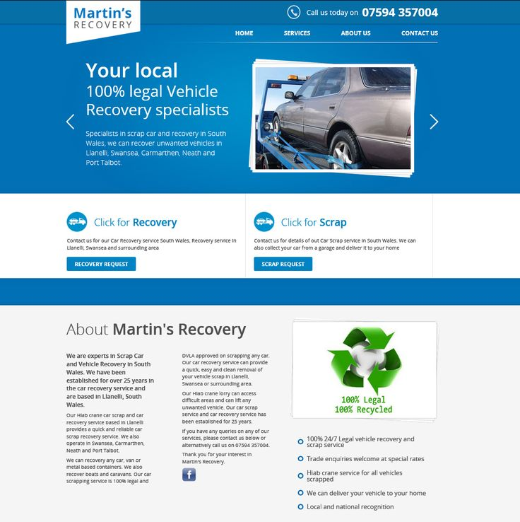 Martin's Recovery is a fully licensed vehicle recovery service, operating throughout South Wales.