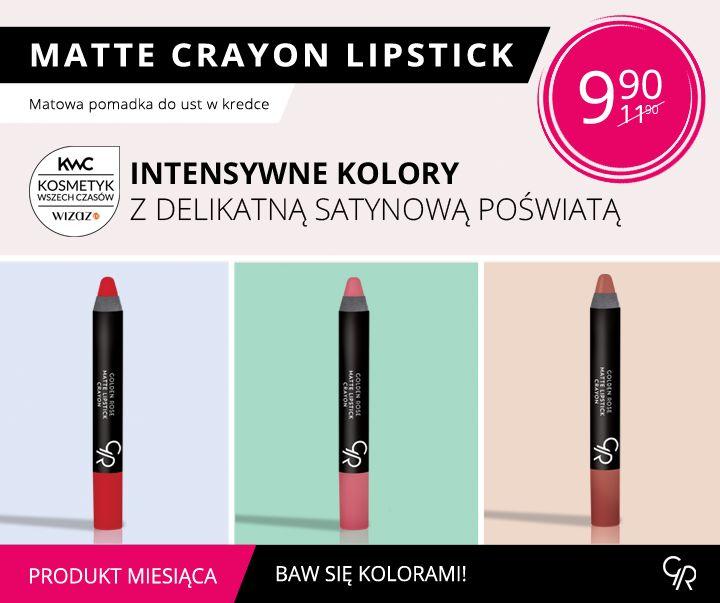 Produktem miesiąca na wrzesień są matowe pomadki Matte Crayon Lipstick