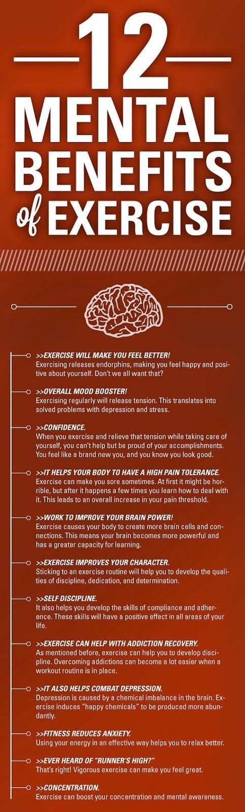 The mental benefits of physical excercise