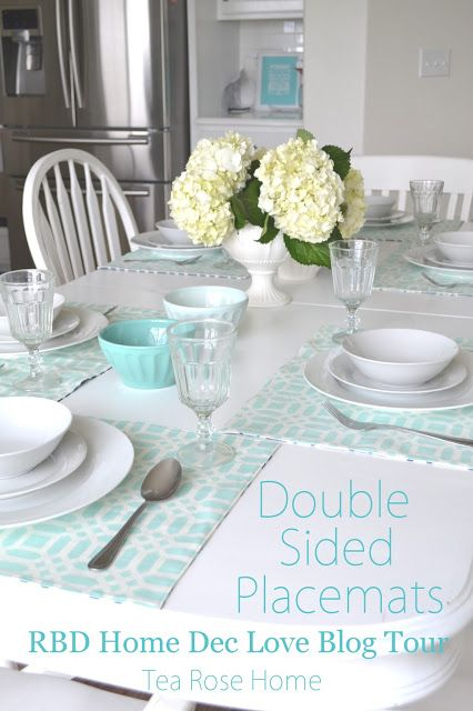 Tea Rose Home: Tutorial ~ Double Sided Placemats With Riley Blake Designs  Home Decor Fabric Part 55