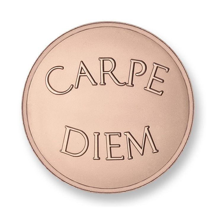 Mi Moneda Carpe-Diem Medium Rose Gold Plated Coin Fields.ie