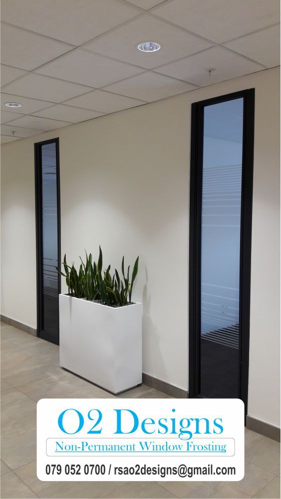 Where can non-permanent window frosting be used? At O2 Designs answers to your frequently asked questions follow the link to learn more.  http://www.o2designs.yolasite.com/frequently-asked-questions.php #Window #WindowFrosting #WindowTreatments