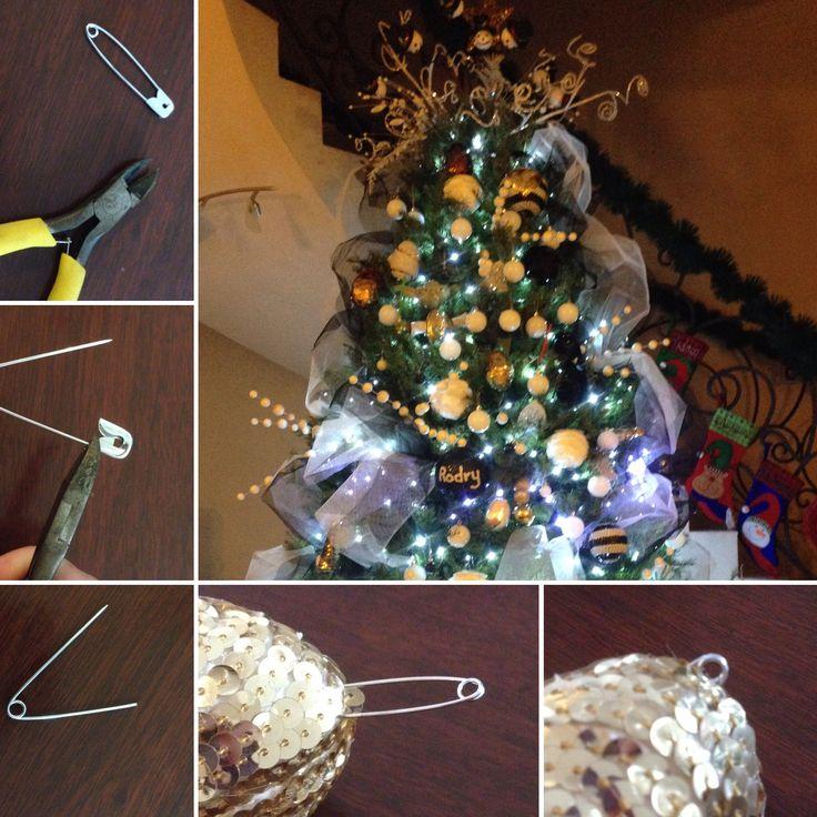 Hacer gancho para adornos navideños.  Cómo colgar adornos navideños hechos en casa a base de figuras de unicel ( poliestireno).