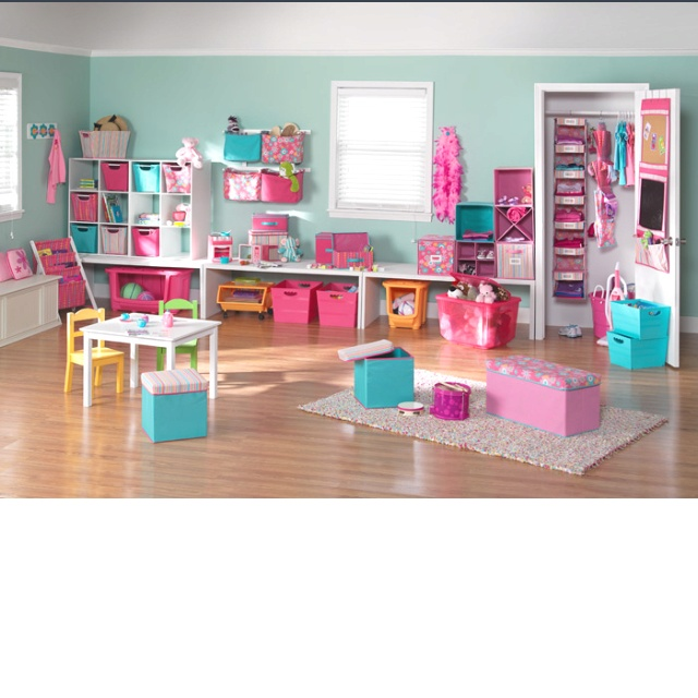 Best Girls Playroom Images On Pinterest Nursery Ideas - Colorful kids room designs with plenty of storage space