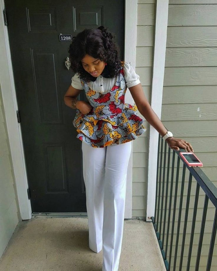 0000Ankara tops with peplum shape give a figure that blends through all the curves of your body and a confidence boost that gives you that satisfactory feeling. Pairing up ankara tops with jeans or skirts is one way for ladies
