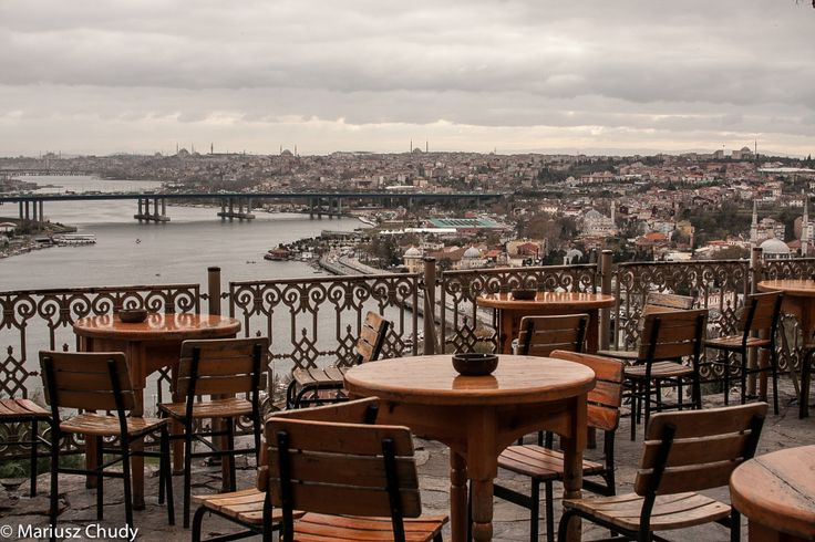 The cafe at Hotel Piyer Loti in Istanbul, Turkey