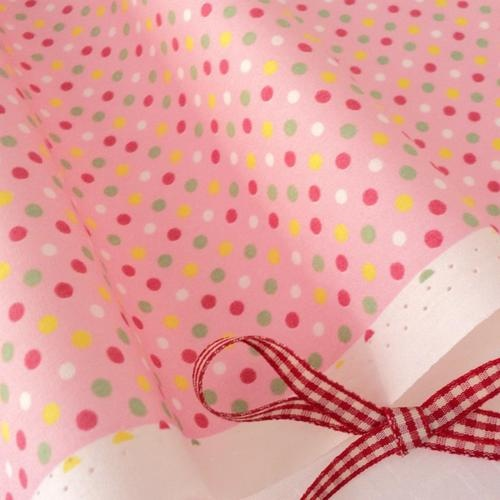 FQ - TUTTI FRUTTI DOTS - PINK / PINK SPOT 100% COTTON fabric dot spot polka NEW | eBay