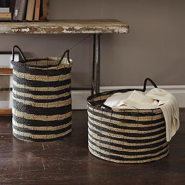 Remember making bowls in art with rope & yarn? How about a larger version for your laundry?