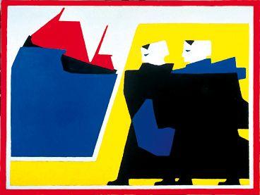 Bart Van der Leck / The Storm / 1916 / Oil on canvas