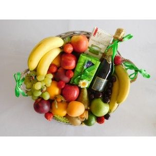 Brussels Gift basket Fruits champagne Delivery one DAY