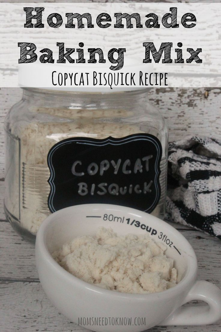 This copycat Bisquick recipe is an easy homemade baking mix that can be made for just pennies. You can save so much money by just making it yourself!