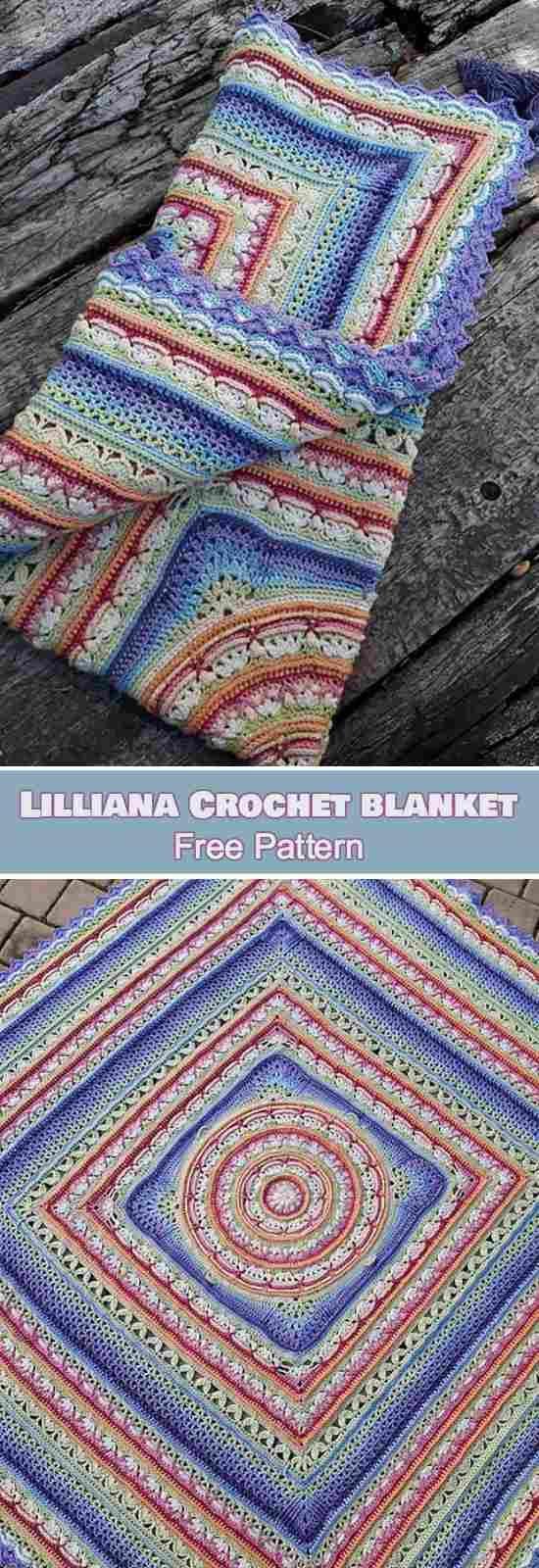 Lilliana Crochet Blanket [Free Pattern] Lilliana Throw, Afghan, Wonderful pattern for baby blanket, doily or pillow.