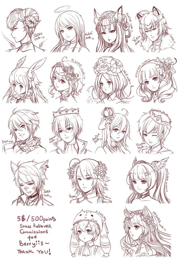 cute anime girl hairstyles fade