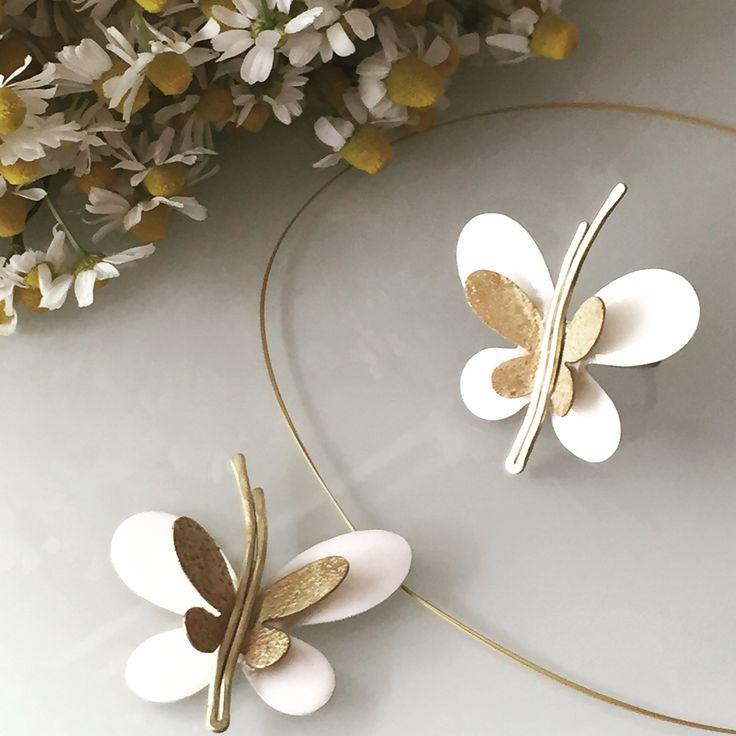 Κολιέ και δαχτυλίδι πεταλούδα! jewel# kosmhma# fashion #white