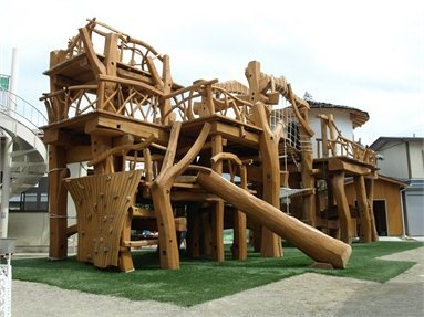 minakuchi kindergarten's wooden playground, koka city shiga pref, 2010