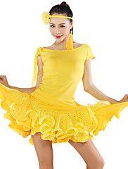 Latin+Dancewear+Woman's+Hot+Latin+Dance+Dress(More+Colors)+–+EUR+€+55.70