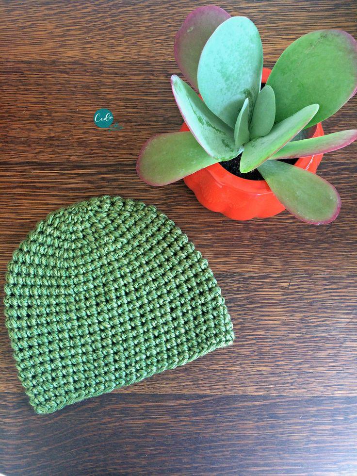 how to make a crochet puff stitch hat