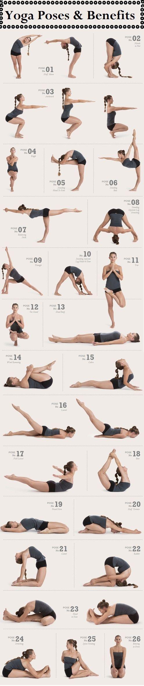 26 Yoga Poses + Benefits