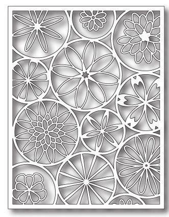 Poppystamps - Dies - Poppystamps - Dies - Mod Flower Background