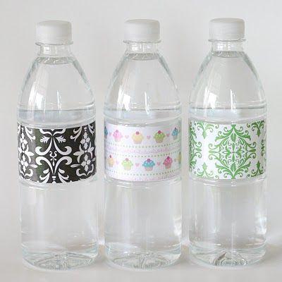 27 best bottle labels images on pinterest bottle labels for Diy mineral water bottle