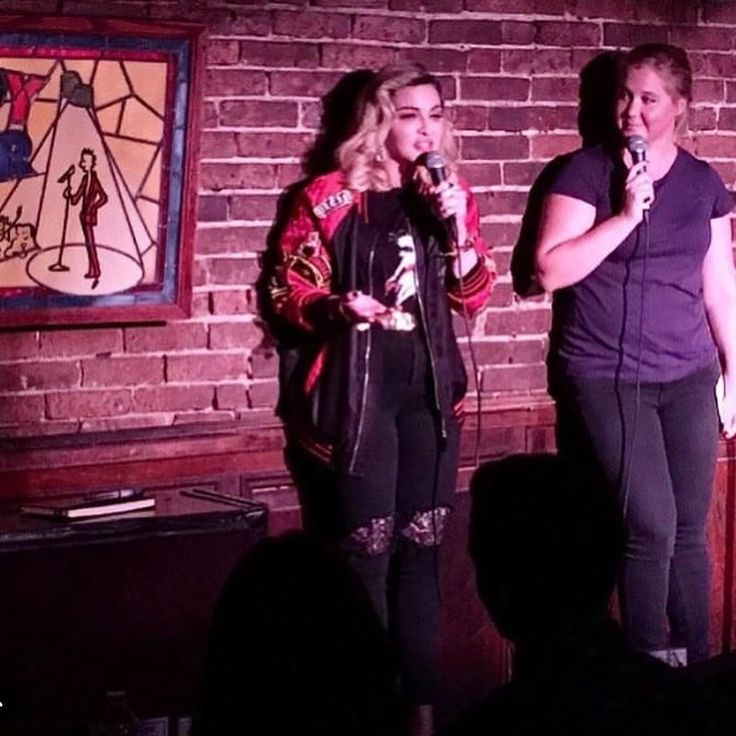 Madonna & Amy Schumer at New York Comedy Club