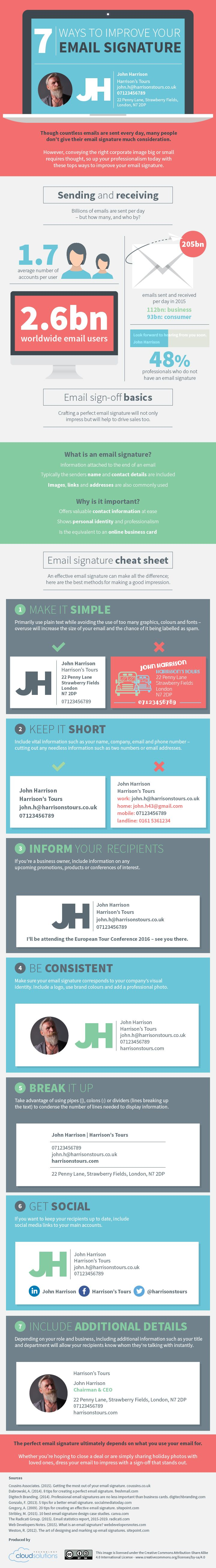 7 Tips for Creating Perfect Email Signatures - #infographic