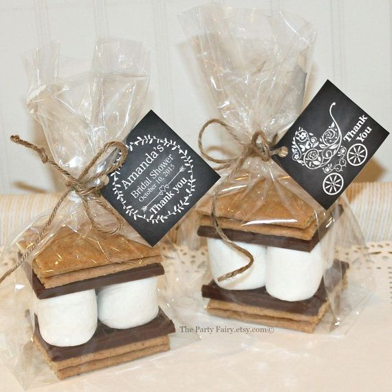 S'mores Favor Kits 12 S'mores Baby Shower Favor by ThePartyFairy