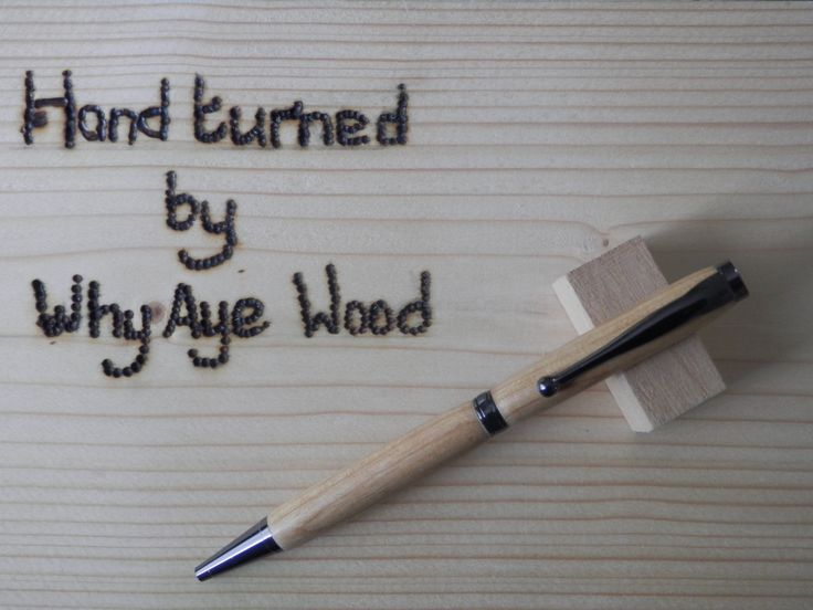 Hand Turned Cherry wood pen finished with Gun Metal fittings by Whyayewood on…