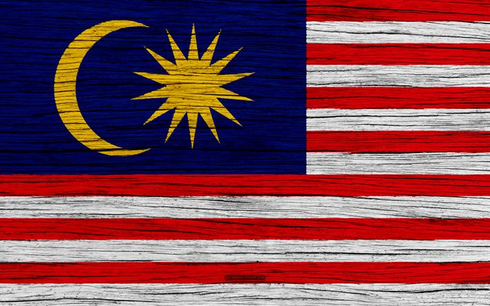 Download wallpapers Flag of Malaysia, 4k, Asia, wooden texture, Malaysian flag, national symbols, Malaysia flag, art, Malaysia