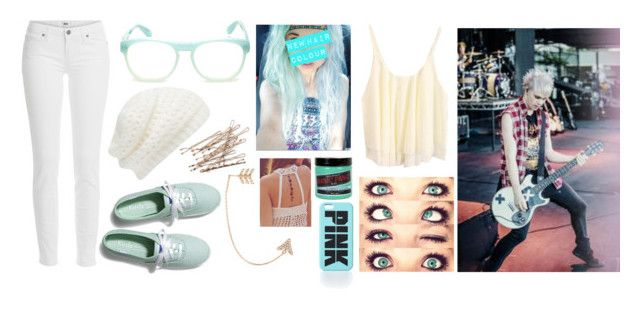 """""""//dying my hair turquoise/aqua with Michael//Read the D maybe?//"""" by ravenclawangel ❤ liked on Polyvore featuring Paige Denim, Forever New, Wildfox, Keds, Bee Goddess, Free People and Manic Panic NYC"""