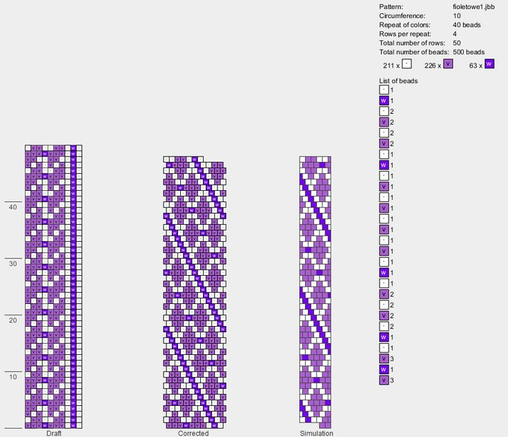 Bead Crochet Rope Graph Paper Yapisstickenco