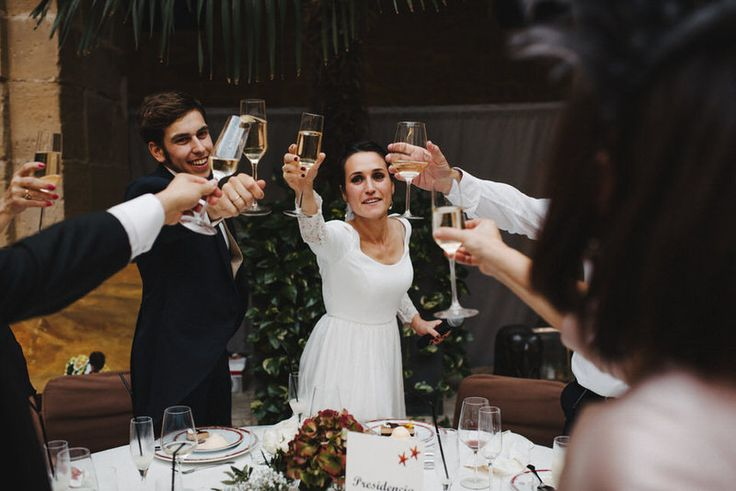 Toasts were given to this couple